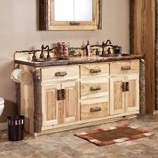rustic double vanity. Brilliant Vanity Real Hickory Rustic Bathroom Vanity 48 On Double