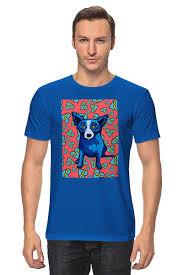 <b>Футболка классическая Синий</b> Пес #770288 от Pinky-Winky по ...