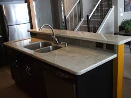 elegant white granite countertops and also black kitchen island