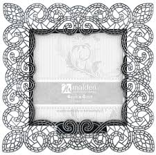 Amazon.com: Malden International Designs Sabella Lace Metal Picture Frame,  4x6, Silver: Home & Kitchen