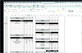 Excel Food Tracker Calorie Counter Spreadsheet Template Intake