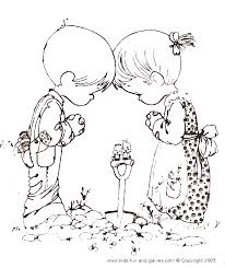 Small Picture Precious Moments Coloring Pages