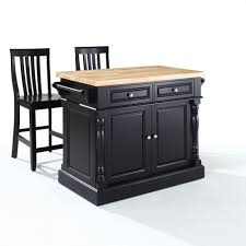 Crosley Furniture Kitchen Island Crosley Furniture Kf300062bk Oxford Butcher Block Top Kitchen