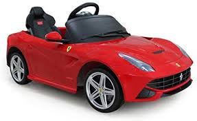How to pair your ride on car parental remote control. Amazon Com Vroom Rider Ferrari F12 Rastar 6v Battery Operated Remote Controlled Ride On Red Toys Games