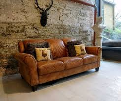 369 Chesterfield Leather vintage distressed 3 Seater Sofa tan brown cigar