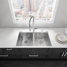 vigo 32 0 in x 19 0 in double basin stainless steel undermount commercial