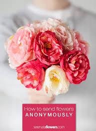 how to send flowers anonymously