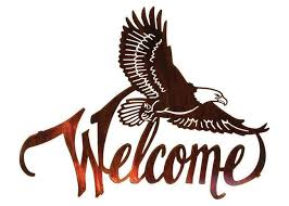 american bald eagle welcome large metal wall sculptures for home decorations on american eagle metal wall art with american bald eagle welcome large metal wall sculptures for home