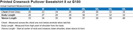 Gildan 50 50 Size Chart Sizing Charts Nextlevela