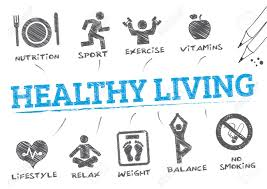 Healthy Living Chart Healthy Living Chart With Keywords And Icons