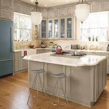 grey painted kitchen cabinetsGray Kitchen Cabinets  Cottage  kitchen  Southern Living