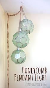 diy honeycomb pendant lights