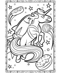 Unicorn In Space Coloring Page Crayolacom