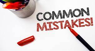 Common Mistakes During Studies