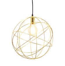 gold chandelier orb