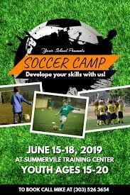 soccer team brochure template soccer camp poster flyer social media template football poster