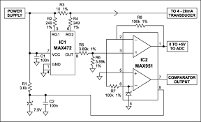 two ics convert 4 20ma signal to 0 5v output application note this circuit derives a 0v 5v output from a 4 20ma