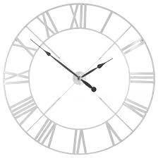 white metal twist frame wall clock