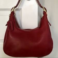 Rare Vintage Red Coach Hobo Purse