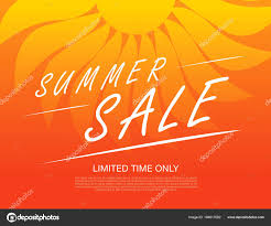 Summer Sale Banner Sample Text Color Background Stock Vector