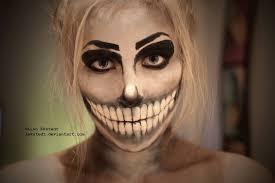 makeup ideas easy skull makeup skeleton makeup by lekstedt on deviantart