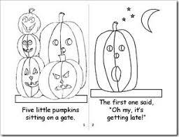 five little pumpkins coloring book