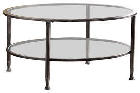 symon metal glass round cocktail table