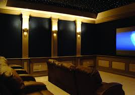 home theater ceiling lighting. Fetching Design Home Theater Ideas With Black Cream Wall Colors And Sparkling Ceiling Lights Lighting