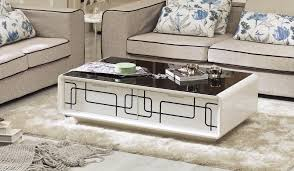 It hosts scrabble games, labors under kids' crafts and gives you a place to rest your feet. Me01 709 High Gloss White Lacquer Contemporary Coffee Table With