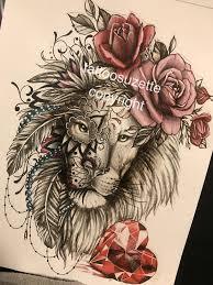 Lion Tattoo Design Mandala Lion Tetování Lva Tetování A šablony
