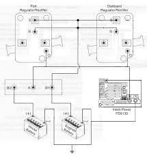 twin mercruiser 485s regulator rectifier isolator wiring problems presumably functional wiring arrangement