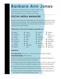 Sample Social Media Resume Social Media Manager Resume Resume Templates 27