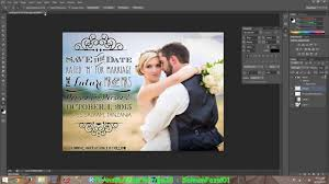 3 Free Save The Date Cards Photoshop Psd Youtube