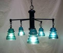 excellent glass insulator lamp medium size of indulging blue chandelier luxury pipe how to make a