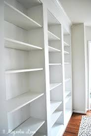 shelves complete built in build storage into wall bookshelves from billy bookcases how to do it shelves built in build