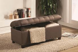 Living Room Bench With Storage Coaster 500065 Brown Fabric Storage Bench Steal A Sofa Furniture