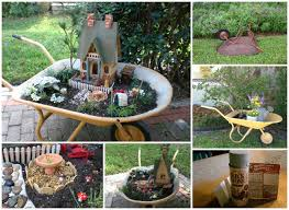Small Picture DIY Miniature Wheelbarrow Fairy Garden Ideas and Projects