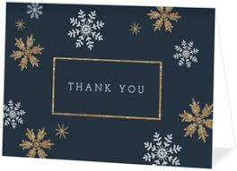 snowflake thank you cards christmas thank you cards thank you christmas cards