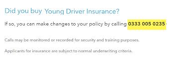 young driver insurance number co op