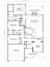 hemistone narrow lot ranch home plan d house plans floor with garage