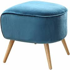 ACME Aisling Teal Velvet Ottoman: Kitchen & Dining - Amazon.com