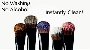 how to instantly clean your makeup brushes without washing spray or alcohol you