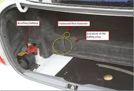 replacing the inverter assembly on a st gen prius acirc russ do pull the lever down to unlock the safety plug