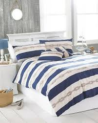 super king size cream blue reef knot