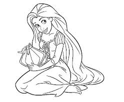 Small Picture Tangled Coloring Pages coloringsuitecom