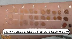Estee Lauder Double Wear Color Chart Estee Lauder Double Wear Foundation Review Swatches Of Shades