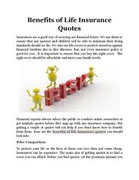 Multiple Life Insurance Quotes Amazing Benefits Of Life Insurance Quotes By Peterenderson Issuu