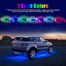 Car Led Light Strips Walmart 7 Color 4pcs Led Strip Under Car Tube Underglow Underbody
