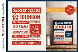 You can copy, modify, distribute and perform the work, even for commercial purposes, all without asking permission. Funny Family Circus Svg Vector Family Template Vintage Eps 153392 Cut Files Design Bundles