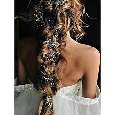 Sps Hair Colour Chart Catery Bride Wedding Headband Silver Pearl Long Hair Vine Bead Bridal Hair Accessories For Women And Girls
